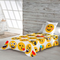 Set of sheets 100% Cotton ILY Emoji