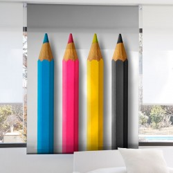 Estor Enrollable Digital PINTURAS Zebra Textil