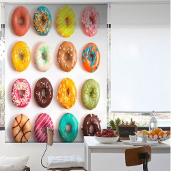 Estor Enrollable Digital DONUTS Zebra Textil