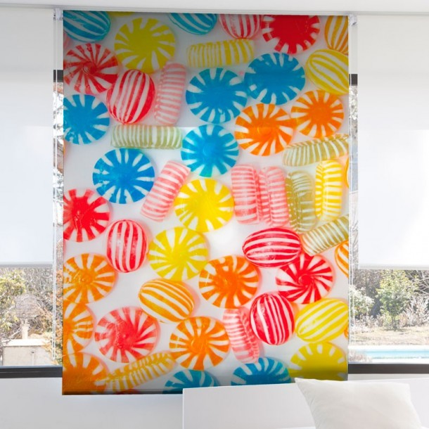 Estor Enrollable Digital CARAMELOS Zebra Textil