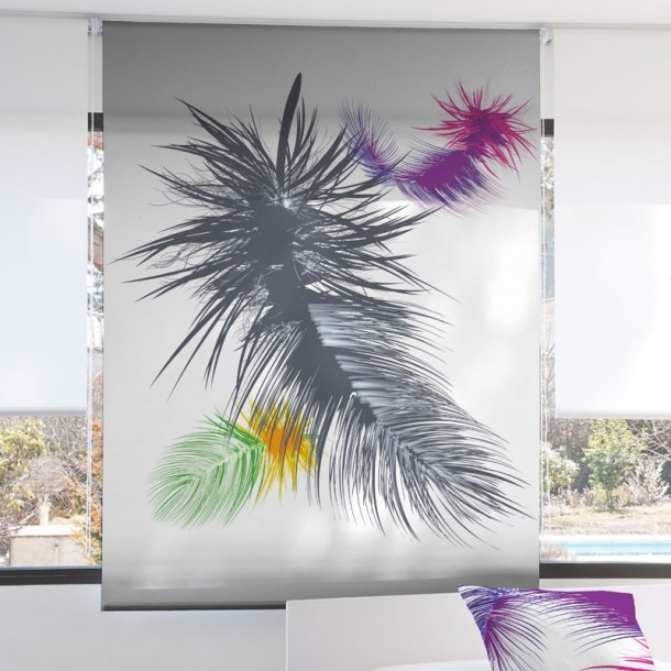 Estor Enrollable Digital PALMERA Zebra Textil