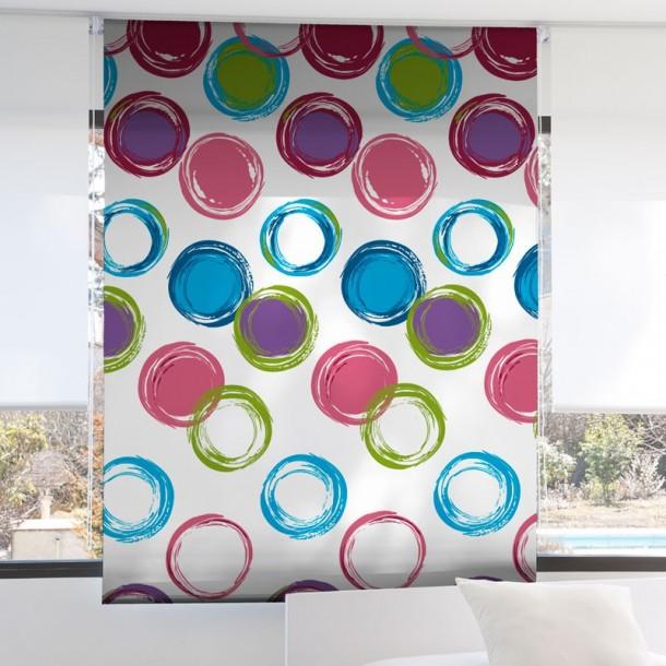 Estor Enrollable Digital CIRCULOS Zebra Textil